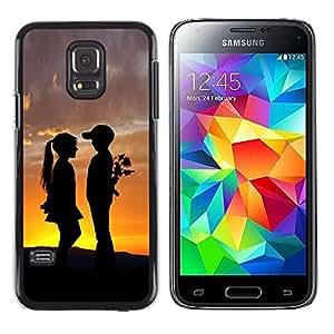 Be Good Phone Accessory // Dura Cáscara cubierta Protectora Caso Carcasa Funda de Protección para Samsung Galaxy S5 Mini, SM-G800, NOT S5 REGULAR! // Boy & Girl Sunset Romance K