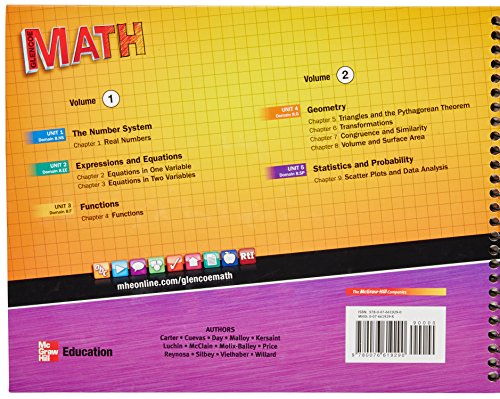 Glencoe Math Course 3 Teacher Edition Vol  1