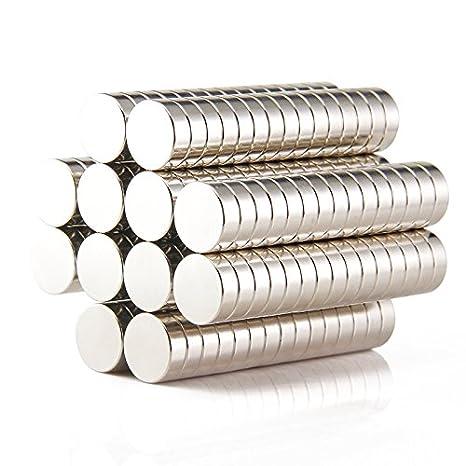 Sunkee 10pcs Pequeño y redondo imanes de disco de diámetro 16x5mm N50 Súper Potente resistente Imán de neodimio de tierras raras de neodimio de neodimio: ...
