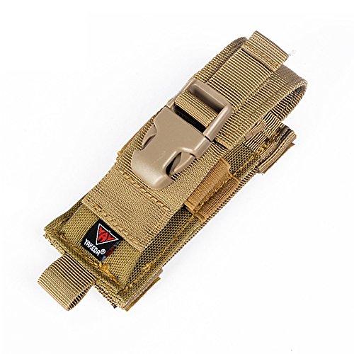 Yakeda Carry All Folding Knife Belt Sheath Nylon Sheath Dual Carry/Molle Strap Knife Bag--C88044-1 (tan)