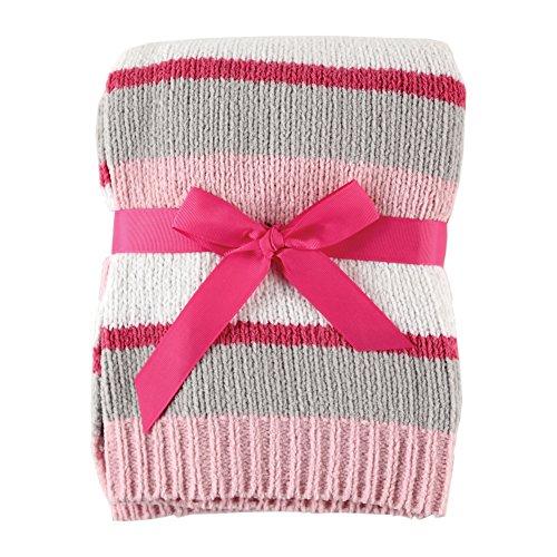 Hudson Baby Striped Chenille Blanket, Pink ()