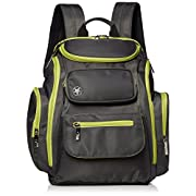 Jeep Perfect Pockets Baby Diaper Bag Backpack - Small Bag with 12 Roomy Pockets for the Ultimate Organizer - Includes Wipe Holder and Wipeable Changing Pad - Grey and Green