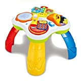 GoAppuGo Musical and Educational Kids Activty Table with flash drum, piano, phone, flip book - Baby birthday gift for 1 year old boy girl or 2 year old boy girl, Musical Learning toys for babies