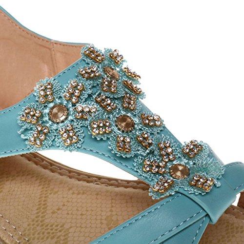 La Modeuse - Sandalias de vestir para mujer verde claro