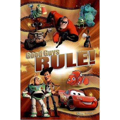 (22x34) Best of Pixar Movie (Good Guys Rule) Poster Print ()