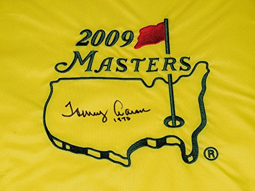 Tommy Aaron Autographed Masters Golf Flag (1973 Winner) - W/Coa! - Autographed Golf Pin Flags