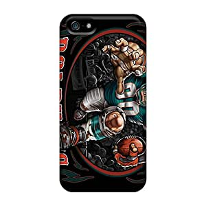 Iphone 5/5s AUO5605csru Customized Realistic Miami Dolphins Pictures Shock Absorbent Hard Phone Covers -AlissaDubois