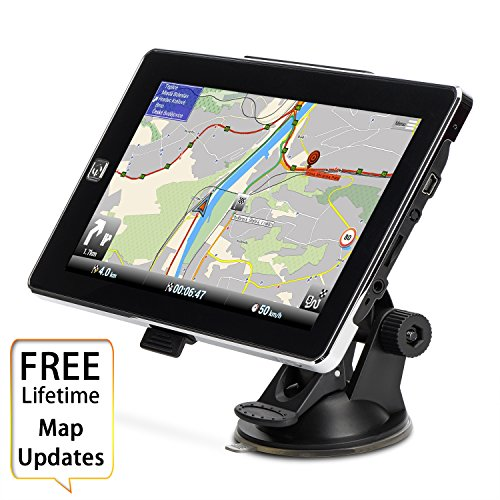 HighSound GPS Navigation for Car, 7 inches 8GB Lifetime Map Update Spoken Turn-to-turn Navigation System for Cars, Vehicle GPS Navigator by HighSound