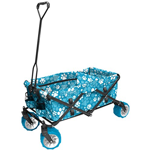 Creative Outdoor Distributor All-Terrain Folding Wagon, Print, Blue Paw Review