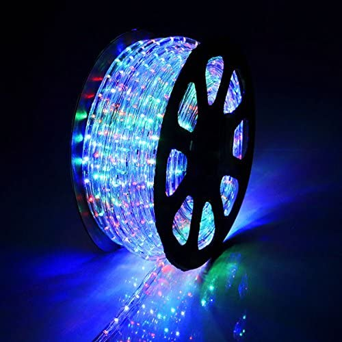 B01K5OCZ7Q DELight Outdoor Lighting LED Rope Light 150ft RGB w/ Connector 61HpB2RQi-L.