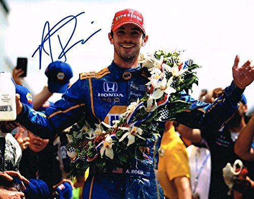 ALEXANDER ROSSI signed 11x14 INDY 500 VICTORY LANE photo IRL INDY with COA - Autographed NASCAR Photos ()