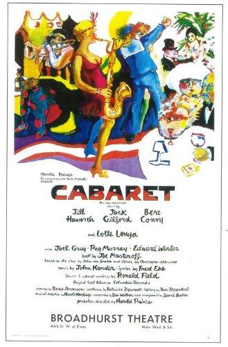 Cabaret Poster Broadway Theater Play 11X17 Jill Haworth Bert Convy Lotte Lenya Jack Gilford
