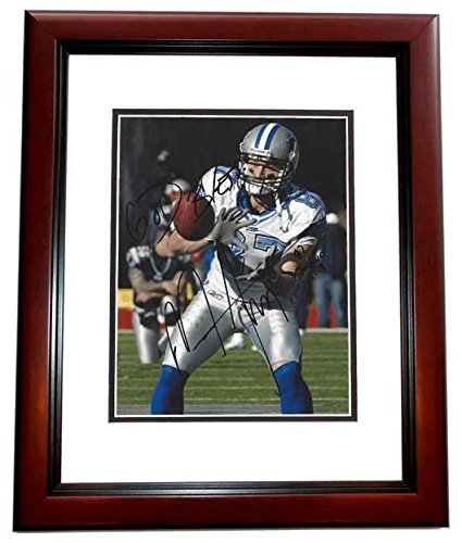 Mike Furrey Signed Photo - 8x10 MAHOGANY CUSTOM FRAME - PSA/DNA Certified - Autographed NFL Photos