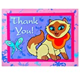 Sagwa the Chinese Siamese Cat Thank You Notes w/ Envelopes (8ct)