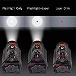 Feyachi [UPDATED] Red Laser + 200 Lumen Flashlight Combo with Compact Rail Mount for Pistol Handgun