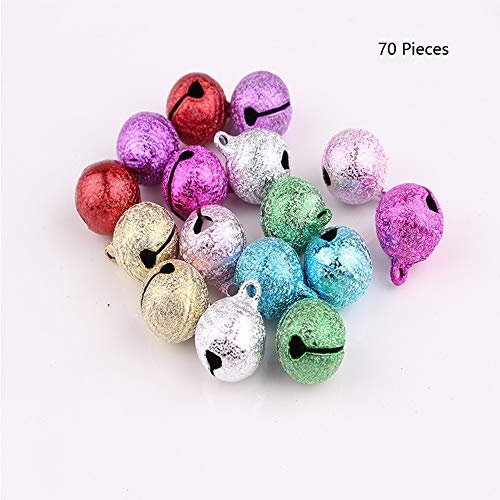 - Christmas Jingle Bell Small Bell Mini Bell Metal Craft Bell Bulk for Christmas Decoration 7 Colored 70 Pieces