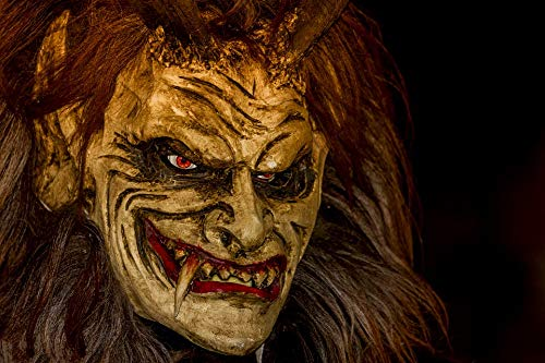 Photography Poster - Krampus, Mask, Customs, Austria, Gloss Finish ()