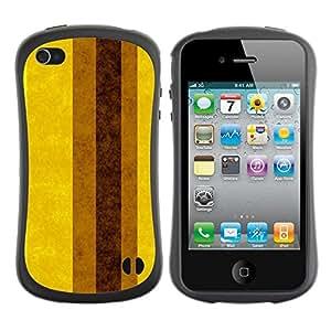 Paccase / Suave TPU GEL Caso Carcasa de Protección Funda para - Earth Brown Yellow Lines Stripes - Apple Iphone 4 / 4S