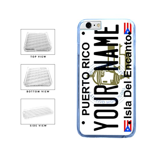 BleuReign(TM) Personalized Custom Name Puerto Rico State License Plate Clear Sides Plastic Phone Case Back Cover For Apple iPhone 6 Plus and iPhone 6s Plus (5.5 Inches Screen) (Bleu Reign Inc Iphone 6)