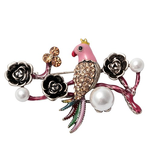 Szxc Jewelry Bird Collection Custom Accessories Wedding Brooches Pin Jewelry Gifts Women Teen Girls (YSWB21 ()