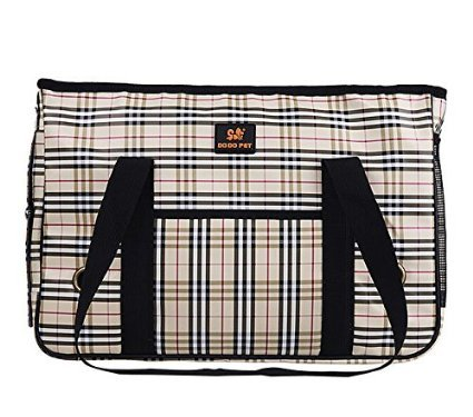 Enjoying Doggie Puppy Carriers Travel Bag Cat Carrier Grid Handbag -S For Sale