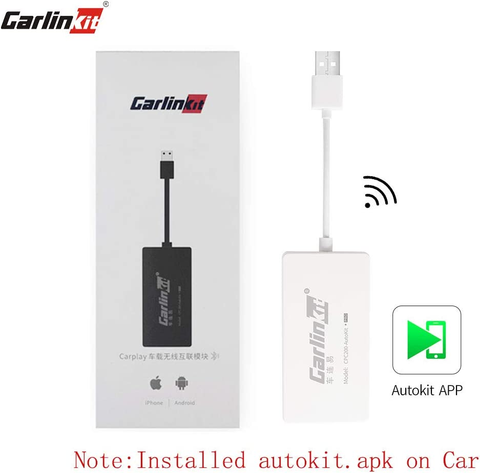 Carlinkit Wireless Carplay Dongle Wired Android Auto for Car with Android Head Unit System Install autokit app in car, Support MirrorScreen/iOS13/Online Upgrade Dongle, NOT for OEM Factory Car System
