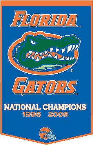 Florida Gators Dynasty Banner - NCAA Licensed - Florida Gators Collectibles