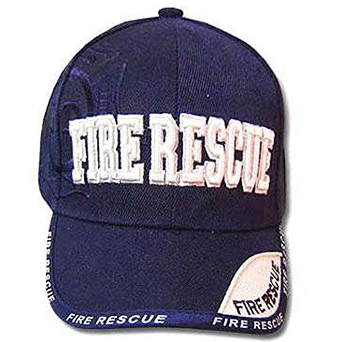 [NAVY BLUE FIRE RESCUE YOUTH KIDS BASEBALL CAP HAT SMALL] (Police Chief Child Hat)