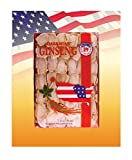 Hsu's Ginseng SKU 0126-2 | Mixed Large-Medium Slices | Cultivated American Ginseng from Marathon County, Wisconsin USA w/One Free Single American Ginseng Tea Bag | 许氏花旗参 | 2oz box, 西洋参, B01MAXVH23