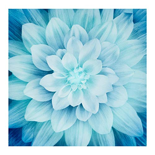 Fabric Dreams - Hoffman Digital Dream Big 44in Floral Panel Turquoise Fabric