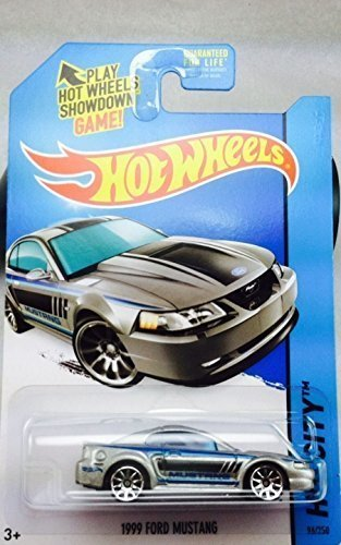 2014 Hot Wheels Hw City - 1999 Ford Mustang (Silver) by M...