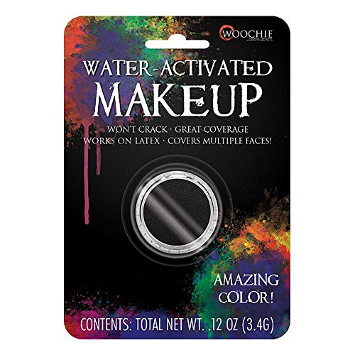 Woochie Water Activated Makeup - Professional Quality Halloween and Costume Makeup - (Black, 0.1 oz)]()
