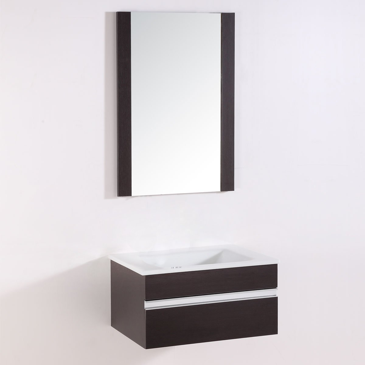 Decoraport 24 In. Wall Hung Bathroom Vanity Set with Single Sink and Mirror (A-TH9021A) by Decoraport