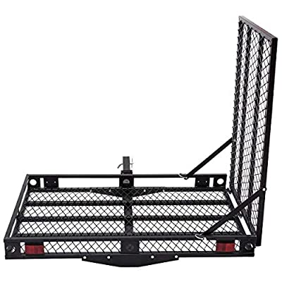Goplus Wheelchair Carrier Mobility Scooter Loading Ramp Heavy Duty Strong Hitch Cargo, 500 Lbs Capacity