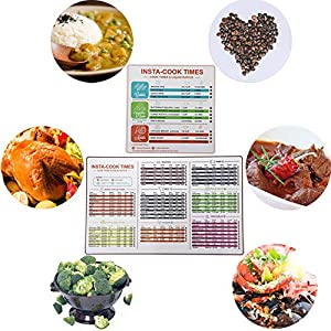 "YONGFENG Air Fryer Cooking Times/Kitchen Conversion Chart Magnets (8""x11"") Cooking Measuring Baking Hot Air Frying Cook Time Chart Recipes Cookbook Reference Cheat Sheet Accessories Big Fonts"