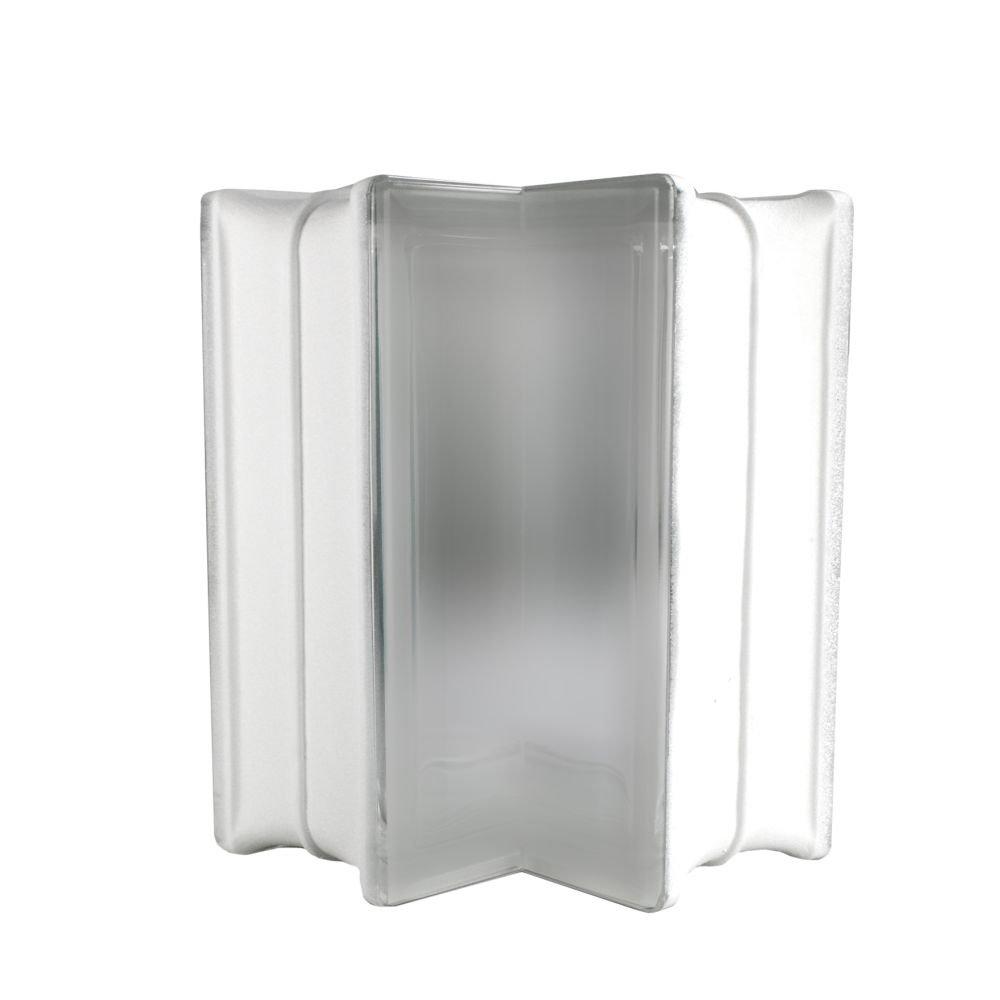 6 St/ück BM Glassteine Vollsicht SUPER White 2-seitig satiniert Milchglas 19x19x8 cm