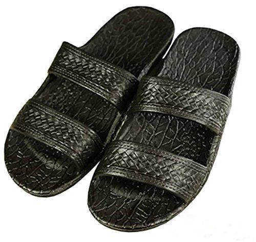 Pali Hawaii Unisex Adult Classic Black Jandals Sandals 8