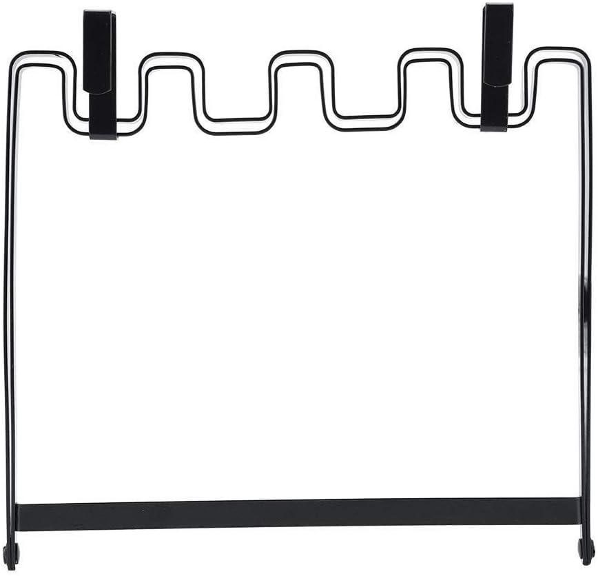 Soporte para Rack de Almacenamiento Organizador de Puerta - Hierro sobre gabinete Colgante de Puerta Bolsa de Basura Organizador Estante Colgador de Cocina Plegable Ajustable