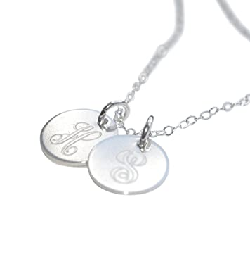 68b354d82c0456 Image Unavailable. Image not available for. Color: Personalized Initial  Necklace ...