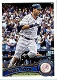 2011 Topps Update Series Baseball Card # US252 Derek Jeter - New York Yankees (3000th Hit) MLB Trading Card In Protective Screwdown Case!