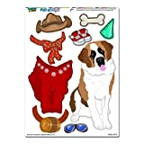 Graphics and More 'St Bernard Saint Dress-Up' Dog Pet Funny MAG-NEATO'S Novelty Gift Paper Doll Locker Refrigerator Vinyl Magnet Set