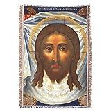 St Veronica Veil Jesus Face Catholic Prayer Throw Blanket Tapestry Tapiz