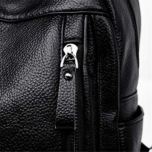 mode capacité d'école sac grande arrivée en poitrine dos Black sac nouvelle cuir femme sac Sac femme dos de Yap6qp