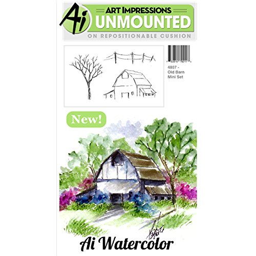 Art Impressions Cling Rubber Stamp Sets Old Barn, 3'' x 4'' by Art Impressions