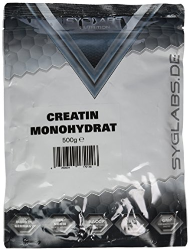 Syglabs Nutrition Creatin Monohydrat Pulver, 1er Pack (1 x 500 g)