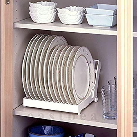 Amazon Com Kitchen Dish Plate Drying Foldable Rack Organizer