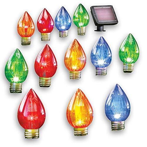 Giant Outdoor Christmas Light Bulb Stakes