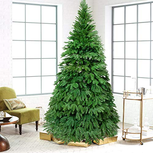 Artificial Christmas Tree. Fake Xmas Green Pine Tree Looks Real, Natural. Great for Indoor, Outdoor, Home, Yard, Patio, Backyard, Gazebo, Front Porch, Deck Holiday Season Party Decor (6.9ft, Green1)