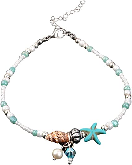 Beach Starfish Shell Jewelry Beads Bracelet Foot Chain Conch Sandal Anklets