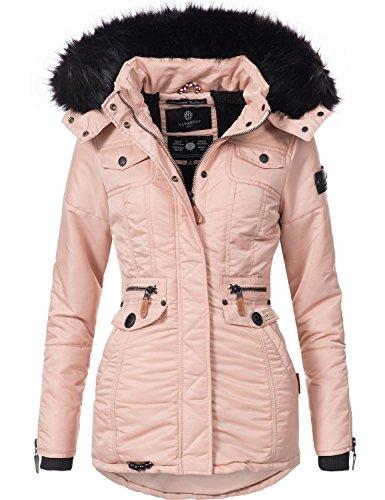 Navahoo Damen Winter-Jacke Winter-Mantel Steppmantel Schätzchen (vegan  hergestellt) 7 Farben 8a480b299d